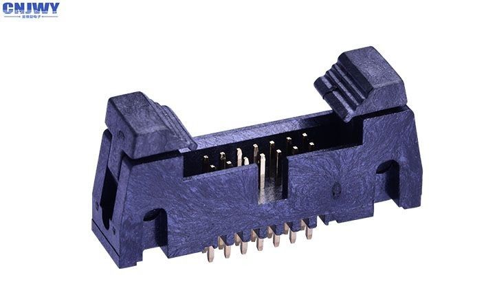 Dual Row Wire To Board Power Connector , Through Hole Pcb Terminal Connector