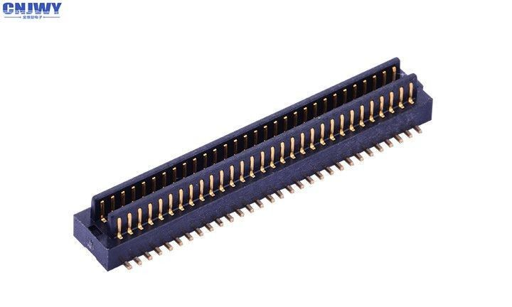 0.8 Mm Board To Board Connector , Double Slot Printed Circuit Board Connector