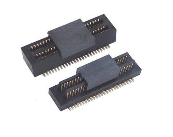 Pitch 0.5mm Double Slotted Board To Board Connector Male Part With CAP UL Certified